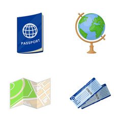 vacation travel passport globe rest and travel vector image