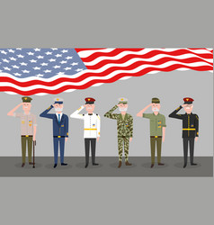 Veterans day national patriotic celebration vector