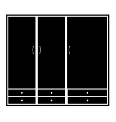 Wardrobe closet sign wardrobe icon on white vector