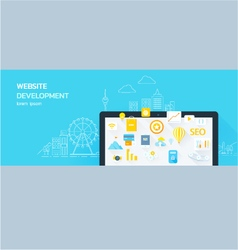 Website development vector