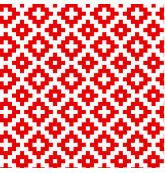 white crosses hand drawn seamless pattern vector image
