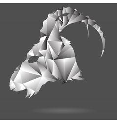 Abstract goat head vector