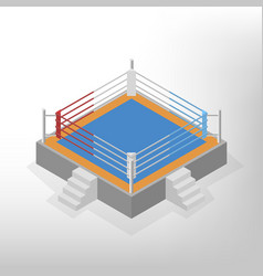 boxing ring is an isometric vector image