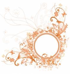 floral frame design vector image vector image