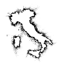 Italy and Sicily map format in the spray vector image