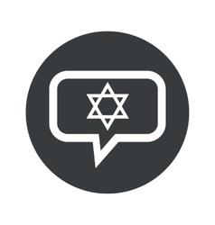 Round star david dialog icon vector