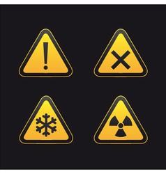set of triangular warning vector image