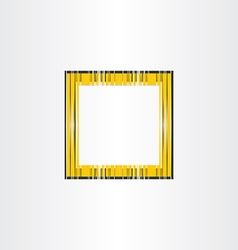 yellow decorative frame background vector image vector image