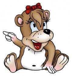 bear girl vector image vector image