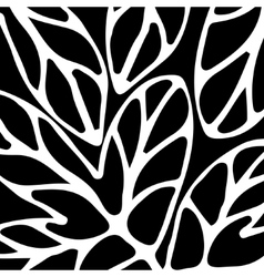 Hand drawn pattern black and white vector image vector image