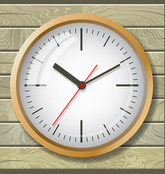 the image of the clock the concept of world time vector image