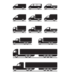 Trucks and pickups vector image vector image
