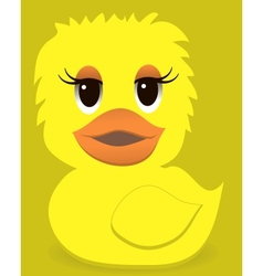Animal duck with a colored background vector image vector image