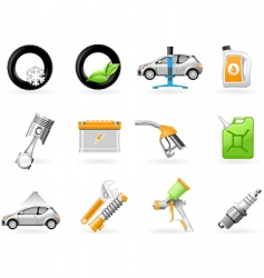 car service and repairing icon vector image vector image