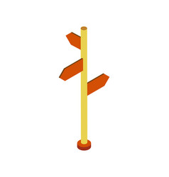 direction post isometric 3d element vector image