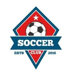 Soccer logo badge emblem template in red vector
