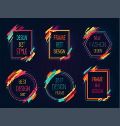 design best style icons on vector image vector image