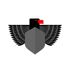 Eagle Coat Of Arms With space for text Emblem vector image vector image