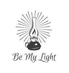 Kerosene lamp Vintage paraffin lamp Doodle style vector image vector image
