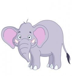 smiley elephant vector image