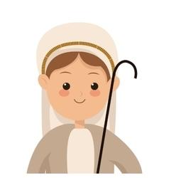 virgin mary icon vector image
