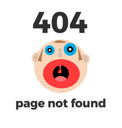 404 error page for web error at site vector