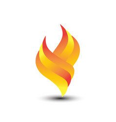 abstract fire logo vector image