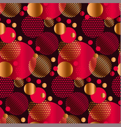 Abstract geometric xmas mood seamless pattern vector