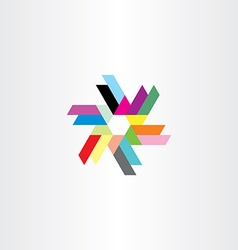 Abstract icon technology symbol logo colorful vector
