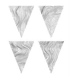abstract triangle shapes vector image