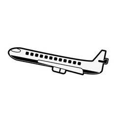 airplane jet isolated vector image vector image