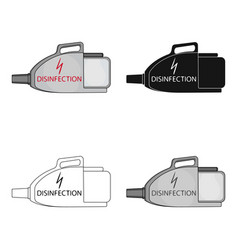 Apparatus for disinfection single icon in cartoon vector
