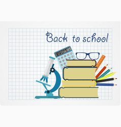Back to school background with place for your vector