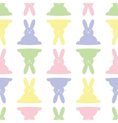 background seamless - Easter bunnies vector image