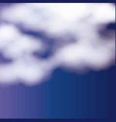 background with clouds over nightly sky vector image
