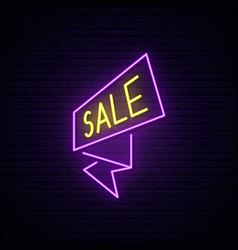black friday neon signboard light sale flash vector image