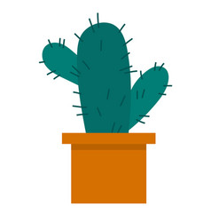 cactus icon in a flat style on a white background vector image