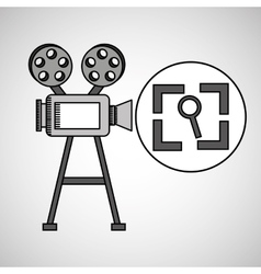 Camera film vintage with movie screen search vector