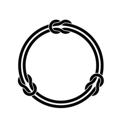 circle frame with knots and two infinite even vector image