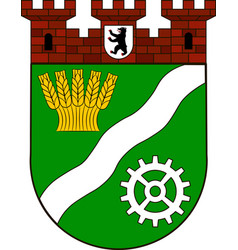Coat of arms of marzahn-hellersdorf in berlin vector