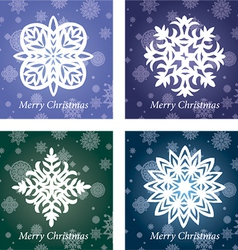 collection of handmade snowflakes vector image