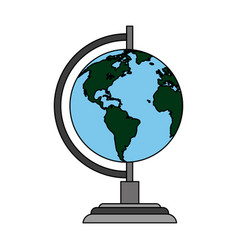 Color image cartoon earth globe vector