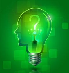 Creative Thinking Light Bulb vector