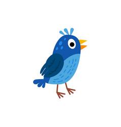 cute animals - nightingale vector image