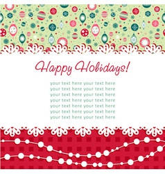 Decorative Christmas postcard on seamless vector image