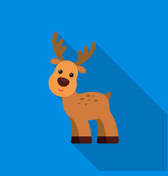 deer flat icon for web and mobile vector image