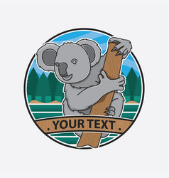 design australia icon koala vector image