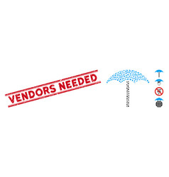 Distress vendors needed line stamp with mosaic vector