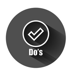 Dos sign icon in flat style like on black round vector