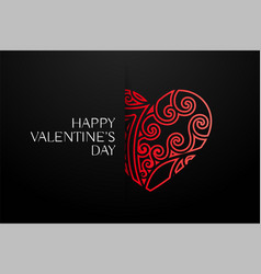 elegant red decorative hearts background vector image
